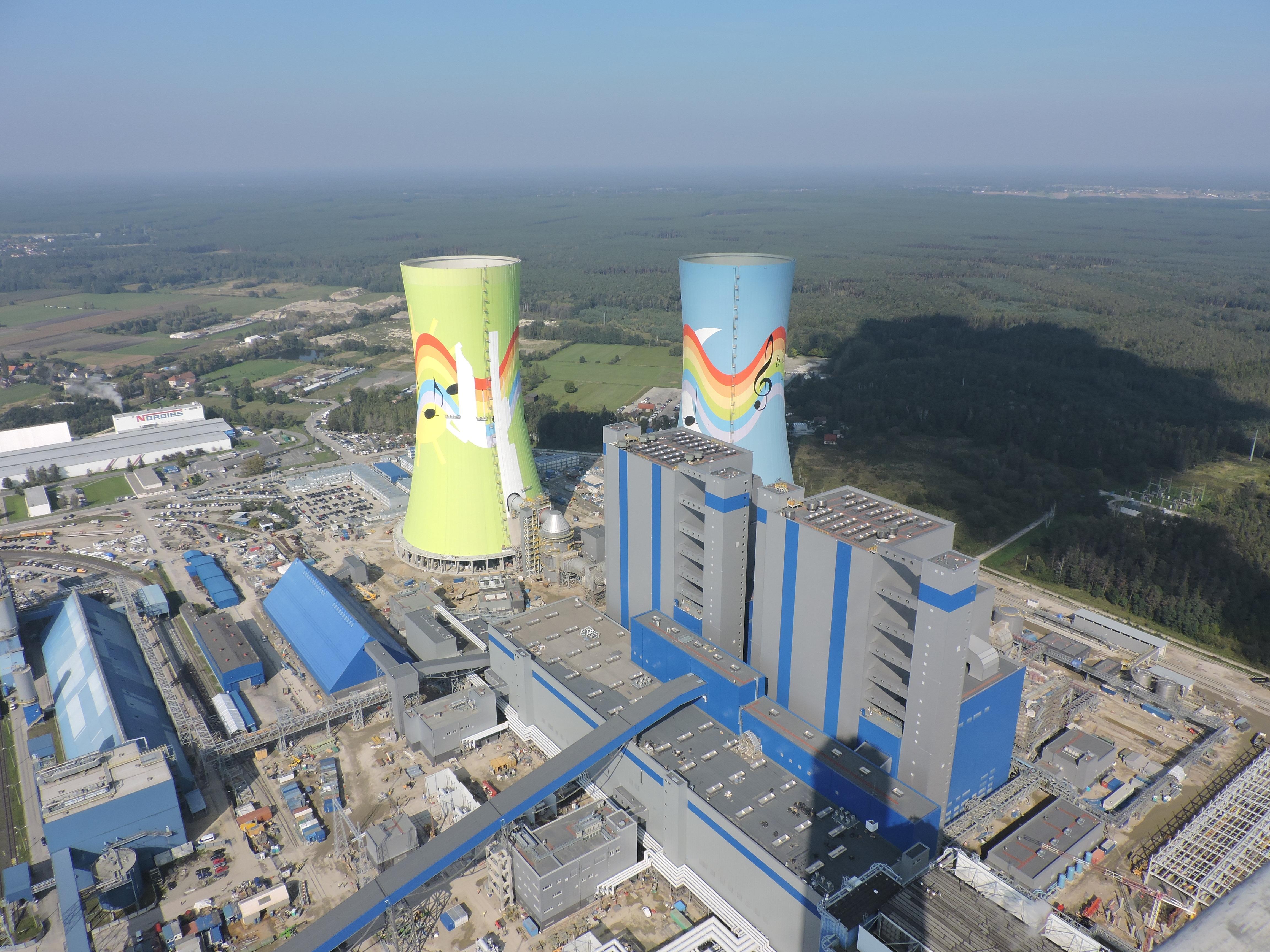 Elektrownia Opole malowanie kominó
