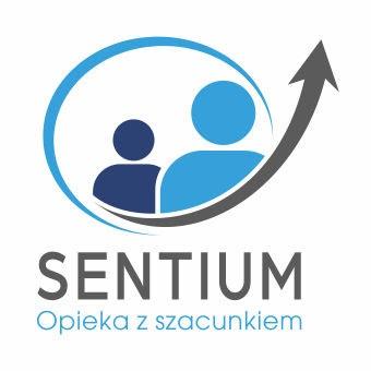 Sentium logo z tłem