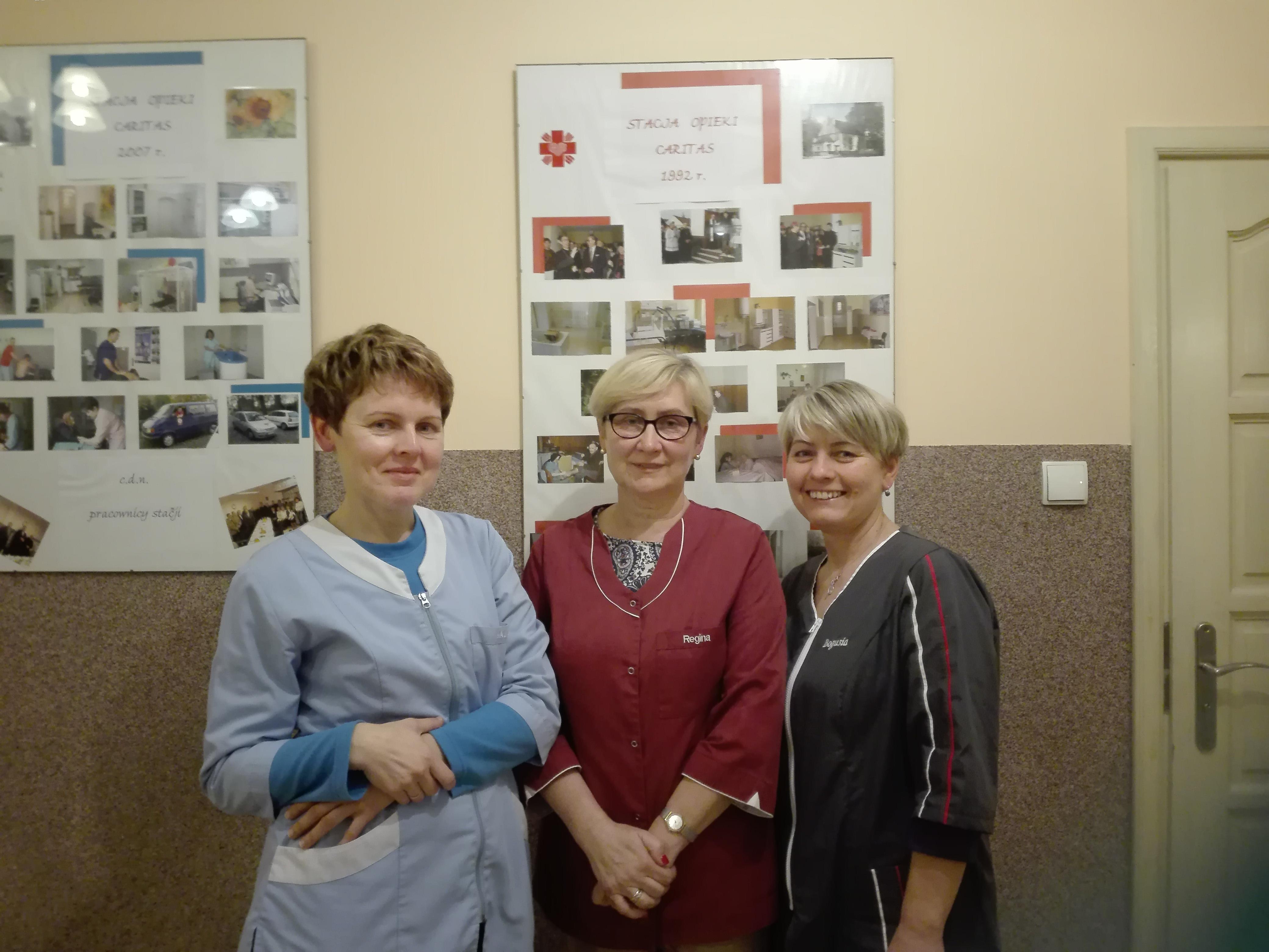 Od lewej Maria Gryszczyk, Regina Słota i Bogumiła Bartoszek