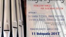 plakat koncert organowy