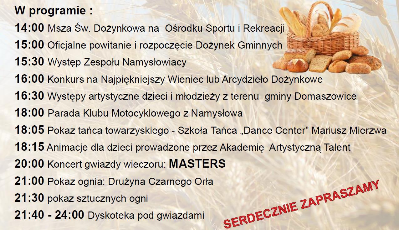 dożynki Domaszowice