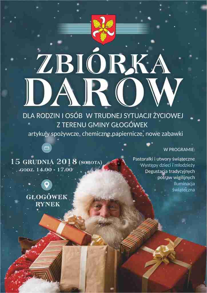 plakat - zbiórka darów